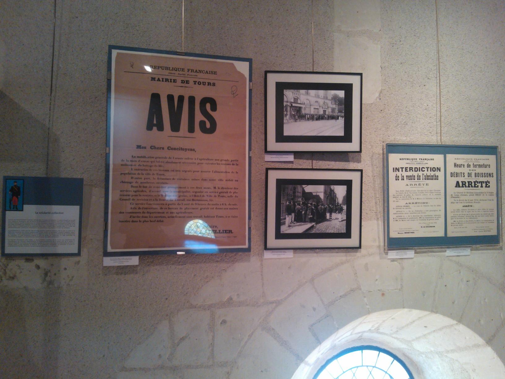 WP 002217 EXPOSITION « 1914, les tourangeaux se mobilisent »
